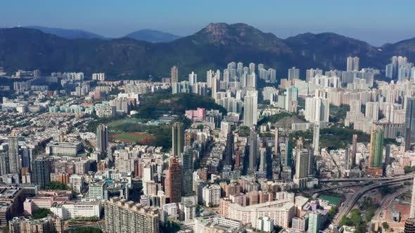 Cover Image for Drone fly over Hong Kong city