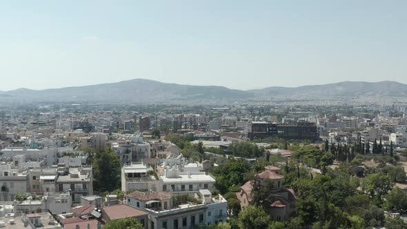Thumbnail for Aerial Drone View Over Athens, Greece Cityscape at Daylight