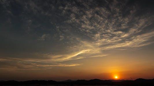 Thumbnail for Hillside Sunset Time Lapse 2 -4K Resolution