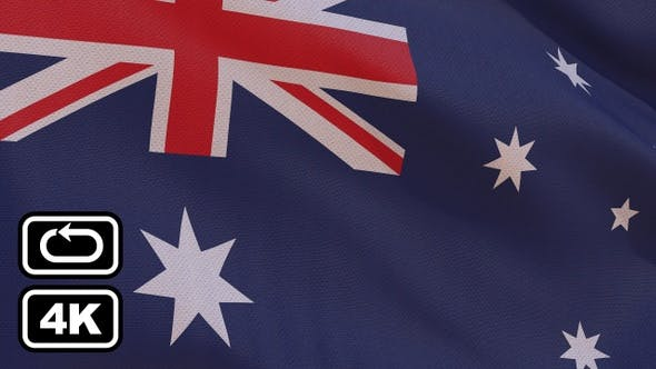 Thumbnail for Australia Flag 4K Seamless Loop