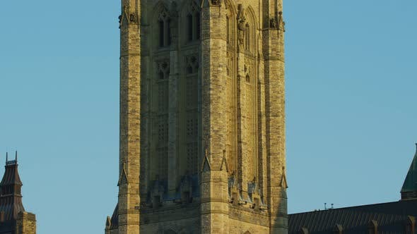 Thumbnail for Tilt up view of the Peace Tower