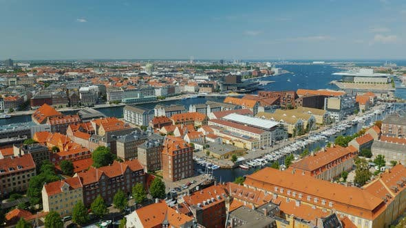 Thumbnail for Pan Shot of Copenhagen, View From the Heights