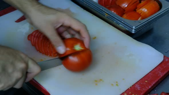 Cutting Tomatoes Counter