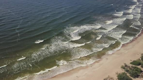 Thumbnail for Baltic Sea Coast Waves near Entrance to Lithuanian Port of Klaipeda