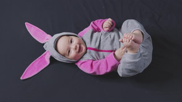 Little Kid Easter Bunny Costume Top View