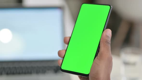 Thumbnail for Smartphone with Green Chroma Key Screen