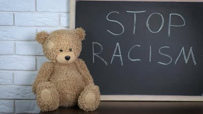 Stop Racism Concept. Stop Childish Racism