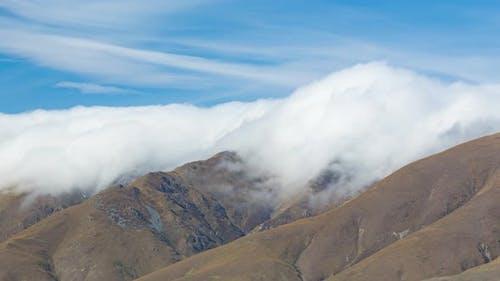 New Zealand Mountain Landscape Time Lapse