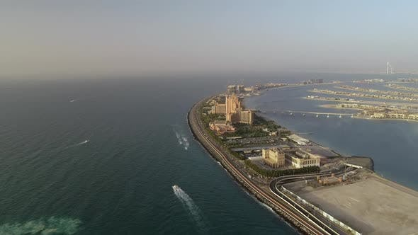 Aerial view of Atlantis the palm resort, Dubai, UAE.