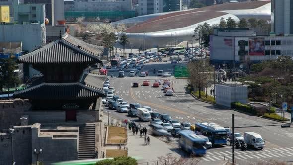 Heunginjimun and Dongdaemun Plaza in Korea, Seoul
