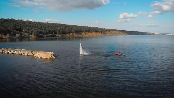 Innovative Watersport Practice on Beautiful Lake