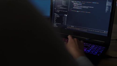 Dark Hacker Programmer Woman Concept