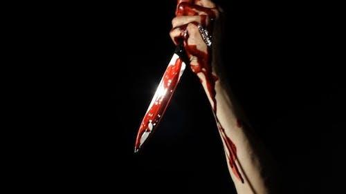 Messerstechen mit einem Messer Low Key