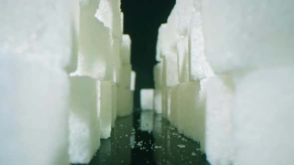 Thumbnail for White Crystals Of Sugar In Cubes