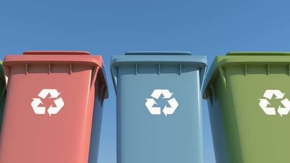 Thumbnail for Colored Container Separate Garbage Collection for Environmental Protection