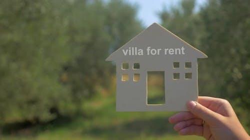 Advertising of Villa for Rent