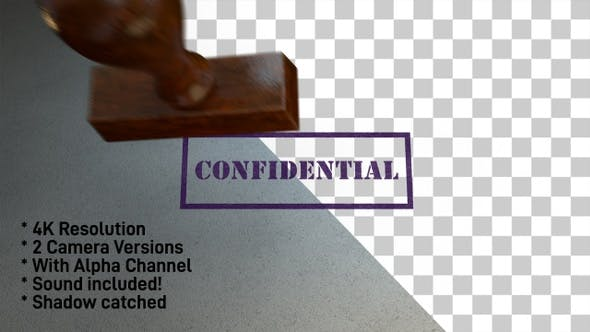Cover Image for Confidential Stamp 4K - 2 Pack