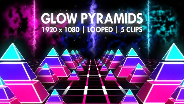 Thumbnail for Glow Pyramids Vj Loop Pack