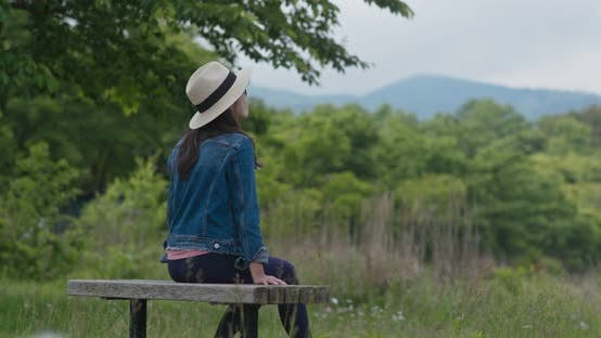 Thumbnail for Woman Look at The Lake in Countryside