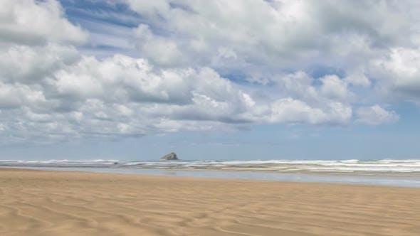Thumbnail for Panoramic Shot of Sunny Seaside Beach