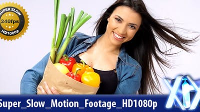 Woman With Groceries 240fps