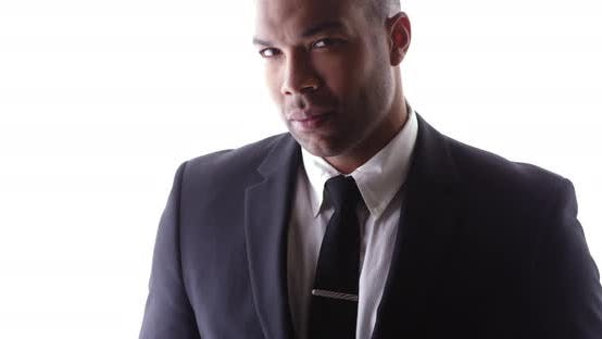 Thumbnail for Handsome black man wearing suit