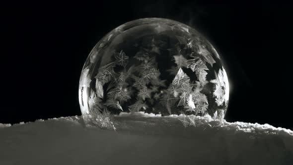 Thumbnail for Soap Bubble Freezing on Black Bagground