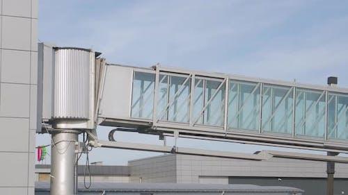 Boarding Bridge To Airplane