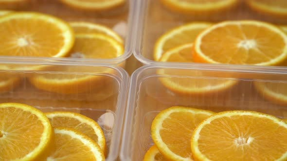 Thumbnail for Rotate Fresh Citrus Oranges Fruits. Seamless Loop Spinning Sliced Oranges.