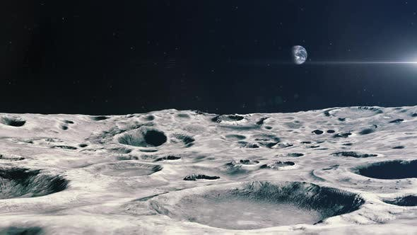 Flying Over Craters on the Moon