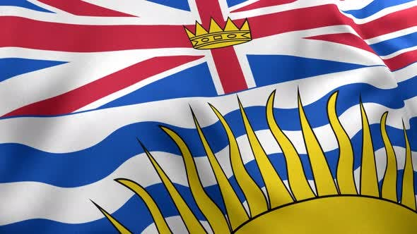 Thumbnail for British Columbia Flag - 4K