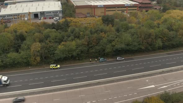Thumbnail for Police Attending the Scene of an Accident on a Motorway