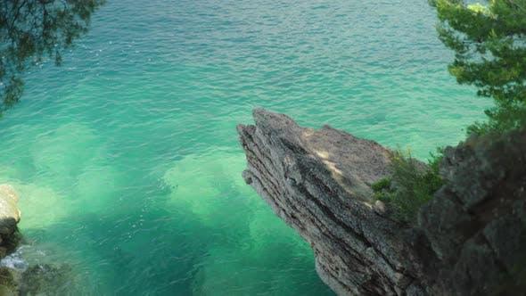 Thumbnail for Close-up of a Stony Seashore. Montenegro, Sveti Stefan.