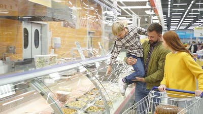 Llittle Son Show Something Delicious to Parents in Store