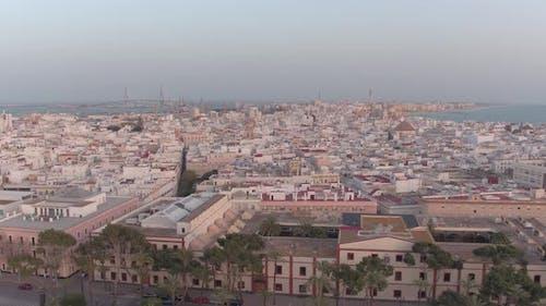 Aerial view of Cadiz