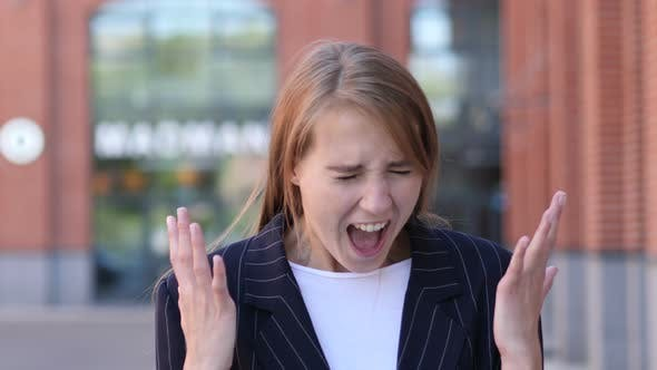 Thumbnail for Shouting, Screaming Businesswoman in Anger