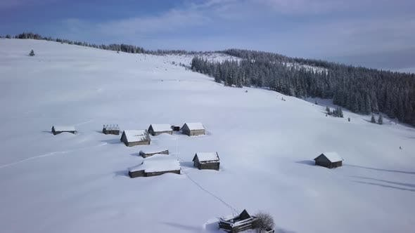 Thumbnail for Flying Over Small Village in Carpathians Mountains