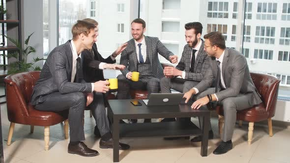 Young Business People Work Together