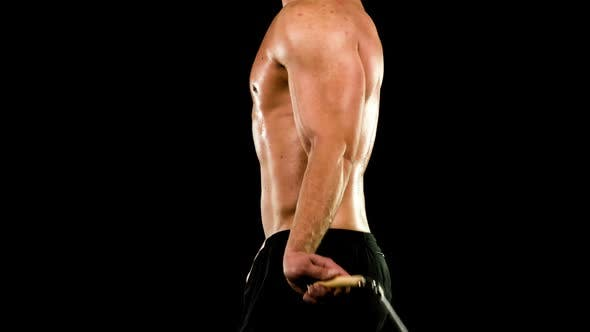 Athletic Male Fitness Training Workout