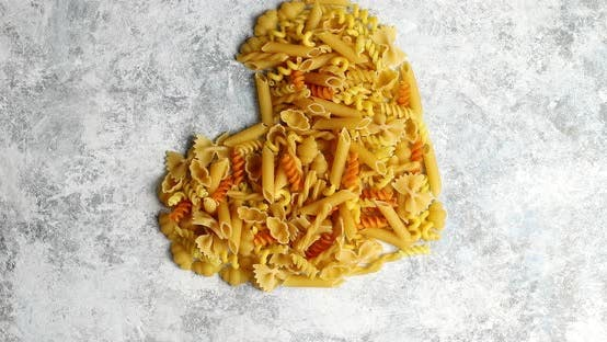 Thumbnail for Heart Shape Made of Pasta