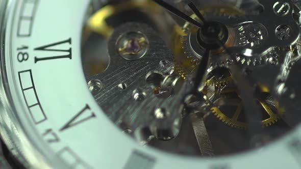 Thumbnail for Ancient clock close-up, transience of time. The price of every minute in life