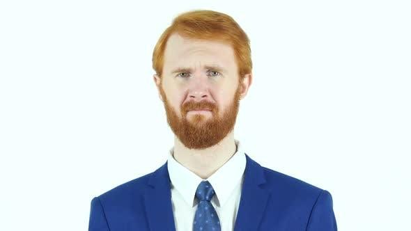 Thumbnail for Upset Hopeless Sad Red Hair Beard Businessman