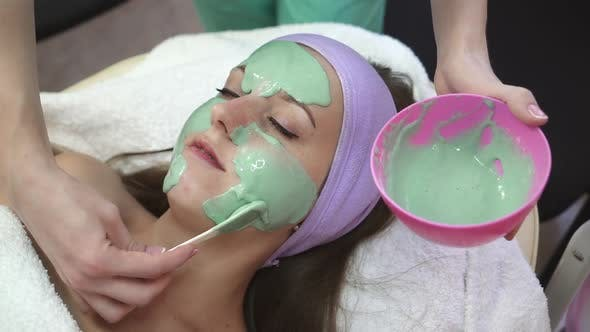 Facial mask on face
