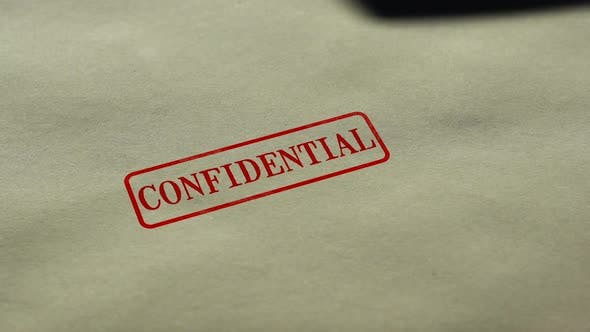 Thumbnail for Confidential Seal Stamped on Blank Paper Background, Personal Data Nondisclosure
