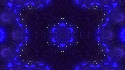 Colored flashes, kaleidoscope, disco screensaver, colored background.