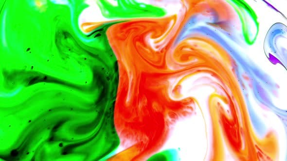 Thumbnail for Abstract Food Color Swirling And Blasting Texture 10