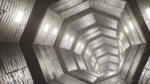 Metal Diamond Plate Tunnel 4K
