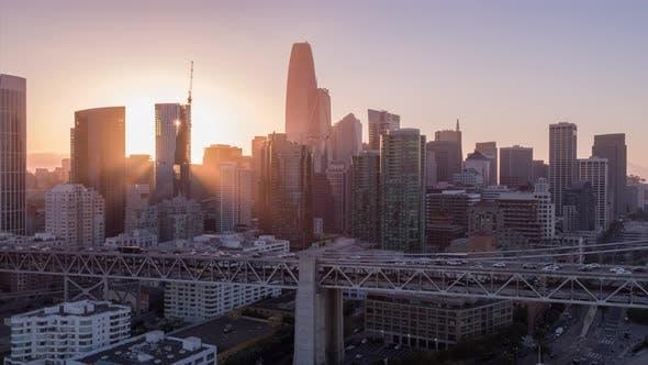 Thumbnail for San Francisco At Sunset Aerial