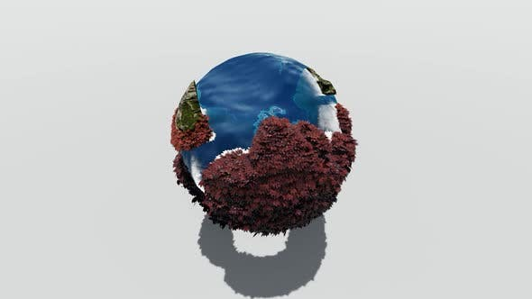 Earth with seas and islands