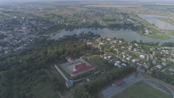 Aerial view in the region of Ternopil